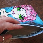 hand painted wristlets